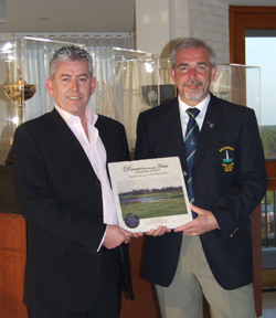 Roger Jones and Gerry Mulholland with the award for Balcarrick GC - presented in Florida - March 2009
