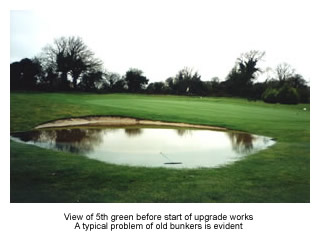 Issues to be addressed by golf course design upgrade - Roger Jones Golf Design